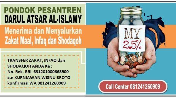 Badan Zakat Maal, Infaq dan Shodaqoh Pondok Darul Atsar Al-Islamy